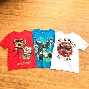 Boys 3Pc Children's Place Shirt Lot - Size 7/8